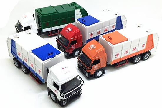 Yellow / Blue / Green Kids Diecast Garbage Truck Toy ...