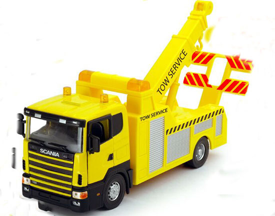 kids yellow 1 43 scale diecast rescue tow truck toy nt01t025
