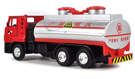Kids Red Pull-Back Function Diecast Oil Tank Truck Toy