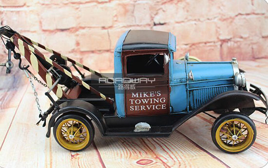 Large Scale Tinplate Blue Handmade 1931 Ford Tow Truck