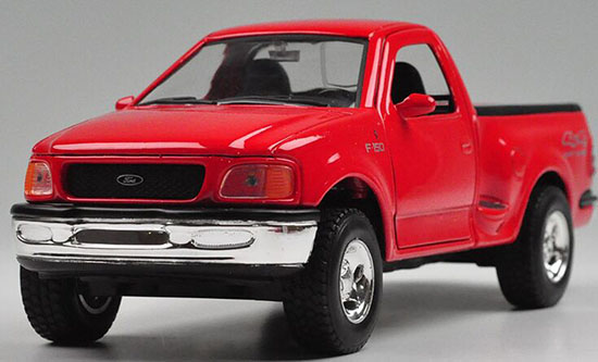welly 1 24 scale red white diecast 1998 ford f 150. Black Bedroom Furniture Sets. Home Design Ideas