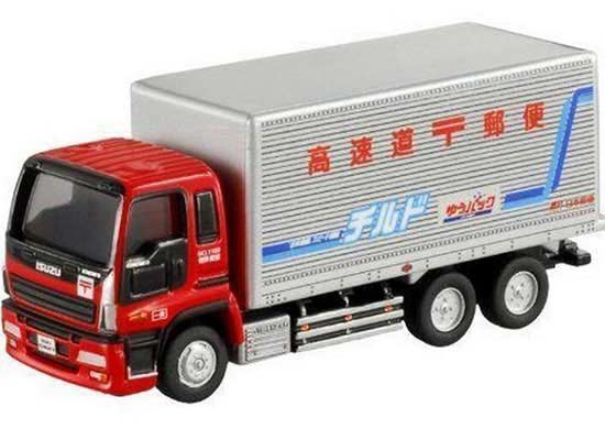 ed188f9448 Red Kids Tomica Post Service Diecast Isuzu GIGA Box Truck Toy ...