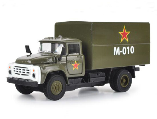 Army Green Kid Pull Back Function Military Diecast Box