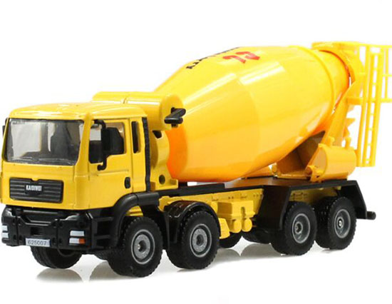 Mixer Truck Toy : Kids scale yellow diecast concrete mixer truck toy