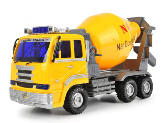 Mixer Truck Toy : Electric kids yellow plastic concrete mixer truck toy