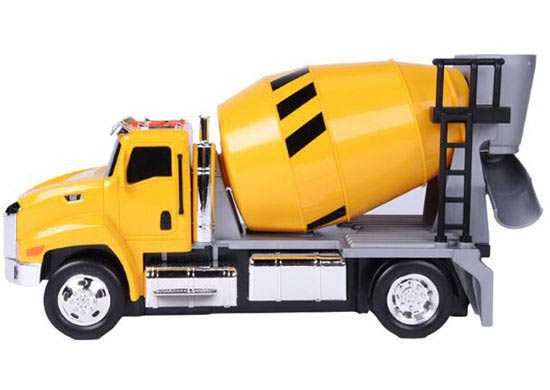 Mixer Truck Toy : Kids yellow sound and light cat concrete mixer truck toy